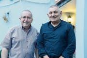 Vereinspräsident Roland Moser (rechts) freut sich, mit Thomas Ammann ein neues Mitglied im Vorstand zu haben. (Bild: Hansruedi Rohrer)