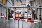 Tötungsdelikt in St.Gallen: Ein Kosovar wurde in den frühen Morgenstunden auf offener Strasse erschossen (Urs Bucher)