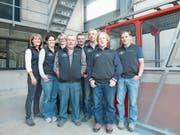 Der Vorstand der Seilbahngenossenschaft Golzern (von links): Margrith Loretz, Edith Gnos, Mirjam Jauch, Toni Furger, Walter Epp, Peter Baumann, Koni Jauch und Erwin Tresch. (Bild: PD)