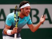 Marco Cecchinato kanns nicht glauben: Er erreicht am French Open die Halbfinals (Bild: KEYSTONE/EPA/YOAN VALAT)