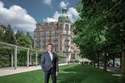 Seit März ist Peter Durrer Hoteldirektor des «Palace». (Bild: Pius Amrein; Luzern, 5. Juni 2018)