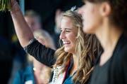 Nadja Anderes wurde 2012 an der Wega zur Apfelkönigin gewählt. (Bild: Stefan Beusch)
