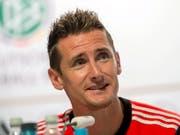 Miroslav Klose traf an Weltmeisterschaften so oft wie keiner - insgesamt 16 Mal (Bild: KEYSTONE/EPA/THOMAS EISENHUTH)