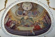 Das Chorfresko in der Steinhauser Pfarrkirche zeigt das letzte Abendmahl. (Bild: Andreas Faessler)