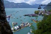 Impressionen vom Cliff Diving in Sisikon 2010. (Bild: PD/Danil Kolodin/Red Bull Content Pool)