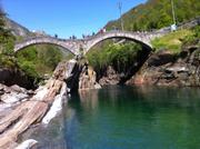 Die berühmte Brücke von Lavertezzo.