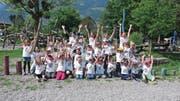 Drei Kindergartenklassen genossen am Purzelbaumfest einen Tag voller Bewegung. (Bild: PD)