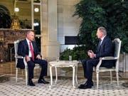 Der Präsident Russlands, Wladimir Putin, sagte in einem Interview mit dem österreichischen Fernsehen ORF, dass er kein Interesse an einer instabilen EU habe. (Bild: KEYSTONE/APA/ORF/DANIEL HACK)