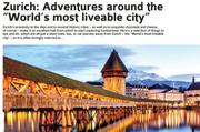 Der Anfang der Reportage mit dem verwirrenden Bild. Zürich wird als Stadt mit der grössten Lebensqualität gepriesen – die man aber am besten rasch wieder verlässt. Zum Beispiel in Richtung Luzern.