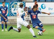 Im Duell: FCL-Torschütze Francisco Rodriguez (rechts) gegen Souleyman Doumbia.