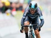 Michal Kwiatkowski dominiert mit Team Sky das Zeitfahren der Dauphiné-Rundfahrt (Bild: KEYSTONE/JEAN-CHRISTOPHE BOTT)
