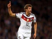 """Thomas Müller lässt es im deutschen Team wieder """"müllern"""" (Bild: KEYSTONE/AP/SCOTT HEPPELL)"""