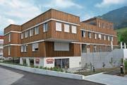 So sieht das neue Administrationsgebäude mit Fabrikladen der Bio Familia in Sachseln aus. (Bild: PD)