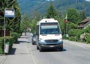 Die heutige Bushaltestelle Viscose ist nach der Ansicht der IG Viscosepark und der Bus Ostschweiz AG zu weit vom Viscosepark-Areal entfernt. Um daran etwas zu ändern, müssen die Linien neu begutachtet werden. (Bild: Kurt Latzer)
