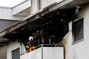 Brand einer Wohnung in Kriens am Sonntag, 3. Juni 2018.