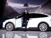 Tesla-Chef Elon Musk. (Bild: KEYSTONE/AP/MARCIO JOSE SANCHEZ)