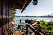 Das ist die Aussicht von der Terrasse des Bootshaus. (Bild: PD)