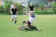 Im Verhältnis gefährlich, weil populär – König Fussball. (Bild: Samuel Truempy/Keystone (Oberbüren, 17. Mai 2014))