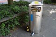 Abfalleimer in der Stadt Luzern. (Symbolbild: Foto: Tommy Durrer)