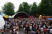 Impression vom B-Sides Festival auf dem Sonnenberg. (Bild: Dominik Wunderli, 15.06. 2017)