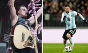 Gabalier statt Messi im Kybunpark: Der österreichische Volks-Rock'n'Roller verhindert den Auftritt des argentinischen Ballzauberers im St.Galler Stadion. (Urs Bucher/Keystone)