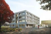 So könnte das neue Schulhaus dereinst aussehen. (Visualisierung: PD)