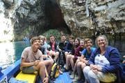 Gastgeberin Aliki Panou als erfahrene Meeresbiologin brachte den Schülern Natur, Geschichte und Menschen von Kefalonia näher. (Bilder: PD)