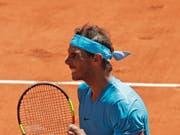 Von Handgelenkproblemen nichts mehr zu sehen: Rafael Nadal (Bild: KEYSTONE/AP/ALESSANDRA TARANTINO)