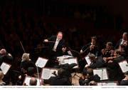 Das Lucerne Festival Orchestra unter der Leitung von Riccardo Chailly im Eröffnungskonzert des letztjährigen Sommerfestivals (Bild: LF/Peter Fischli)