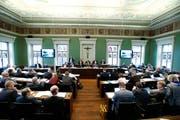 Der Kantonsrat spricht sich gegen den Verhaltenskodex aus. (Bild: Stefan Kaiser (Zug, 22. Februar 2018))