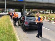 Verkehrskontrolle der Luzerner Polizei in Kriens. (Bild: PD)