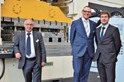 VL-Präsident Adrian Bruderer, CEO Andreas Fischer und GL-Mitglied Reto Bruderer. (Bild: Max Eichenberger)