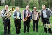 Die legendären Gino-Boys: Christian Stähli, Emil Müller, Hans Kunz, Martin Schlatter und Gery Holenstein. (Bild: Salome Preiswerk Guhl)