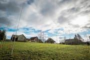 Visiere von geplanten Mehrfamilienhäusern in Weinfelden. (Bild: Reto Martin, 10.Februar 2016)