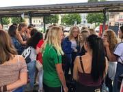 Ein besonderes Highlight: Das erste Zusammentreffen auf dem Bahnhof Amriswil. (Bild: PD/Hans-Ulrich Giger)