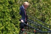 US-Präsident Donald Trump setzte sich beim Gipfeltreffen in Québec von seinen Partnern ab. (Leon Neal/Getty (8. Juni 2018))
