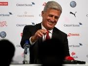 Der Schweizer Nationalcoach Vladimir Petkovic blickt der WM optimistisch entgegen (Bild: KEYSTONE/TI-PRESS/SAMUEL GOLAY)