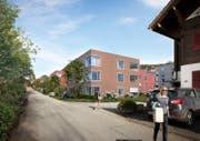 So könnte die Überbauung St. Klemens in Ebikon aussehen. (Visualisierung: Schmid Immobilien AG)