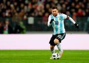 Alle argentinischen Hoffnungen ruhen auf Captain Lionel Messi. (Ivan Sekretarev/AP)