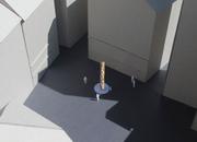 So soll der Brunnen auf dem Kornmarkt dereinst aussehen. (Bild: Visualisierung: PD/Adriaan Westenbrink)