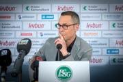 Matthias Hüppi: «Wir werden nur Spieler verpflichten, die in unser Konzept von Feuer und Leidenschaft passen.» (Bild: Urs Bucher)
