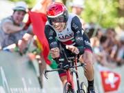 Wird die Tour de Suisse nicht zum vierten Mal gewinnen: der am Knie verletzte Portugiese Rui Costa (Bild: KEYSTONE/ALEXANDRA WEY)