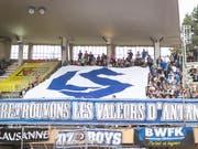 Lausanne-Sport verhängt schweizweites Stadionverbot für Fussballchaoten. (Bild: KEYSTONE/GABRIEL MONNET)