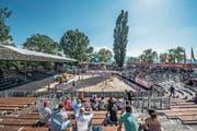 Leere Ränge, kaum Zuschauer: Das diesjährige internationale Beachvolleyball-Turnier im Lido endete mit einem Defizit. (Bild: Pius Amrein (Luzern, 10. Mai 2018))