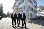 Im 1. Wahlgang gewählt: Christoph Amstad (CVP), Maya-Büchi-Kaiser (FDP) und Josef Hess (parteilos). | Roger Zbinden
