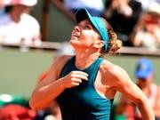Das Warten auf den erlösenden Sieg: Simona Halep will heute in ihrem vierten Grand-Slam-Final erstmals gewinnen (Bild: KEYSTONE/EPA/CAROLINE BLUMBERG)