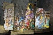 Die Ausstellung «Reduit – die singende Bildmaschine» im Sasso San Gottardo thematisiert Geschichten und Mythen des Gotthards. (Bild: Paul Gwerder (30. Juni 2018))