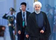 Der iranische Staatspräsident Hassan Rohani. Bild: Alexander Zemlianichenko/AP (Qingdao, 10. Juni 2018)