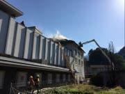 Der Feuerwehreinsatz in Wattwil. (Bild: Kapo SG)