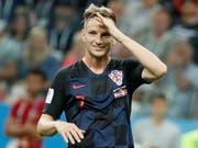Ivan Rakitic, Kroatiens Held im Penaltyschiessen gegen Dänemark. Aufgewachsen ist Doppelbürger Rakitic, der in der U21 noch für die Schweiz spielte, im Aargauischen (Bild: KEYSTONE/EPA/ETIENNE LAURENT)